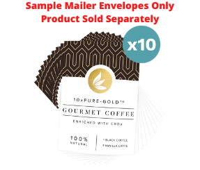 10xPURE™-GOLD Coffee CBDa Sample Mailers - 10 Count